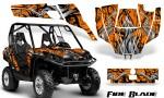 Can Am Commander CreatorX Graphics Kit Fire Blade Black Orange BB 150x90 - Can-Am BRP Commander 800-1000 Graphics