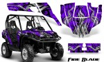 Can Am Commander CreatorX Graphics Kit Fire Blade Black Purple BB 150x90 - Can-Am BRP Commander 800-1000 Graphics