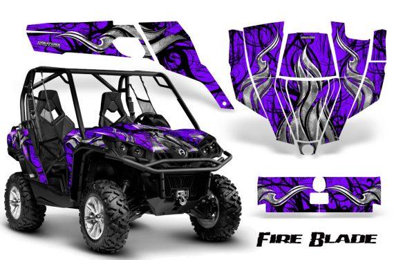 Can Am Commander CreatorX Graphics Kit Fire Blade Black Purple BB 570x376 - Can-Am BRP Commander 800-1000 Graphics