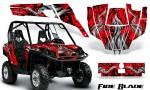 Can Am Commander CreatorX Graphics Kit Fire Blade Black Red RB 150x90 - Can-Am BRP Commander 800-1000 Graphics