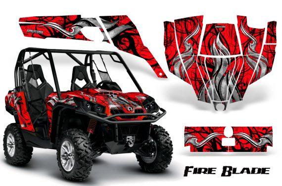 Can Am Commander CreatorX Graphics Kit Fire Blade Black Red RB 570x376 - Can-Am BRP Commander 800-1000 Graphics