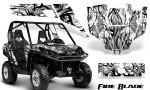 Can Am Commander CreatorX Graphics Kit Fire Blade Black White BB 150x90 - Can-Am BRP Commander 800-1000 Graphics