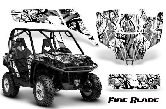 Can Am Commander CreatorX Graphics Kit Fire Blade Black White BB 570x376 - Can-Am BRP Commander 800-1000 Graphics