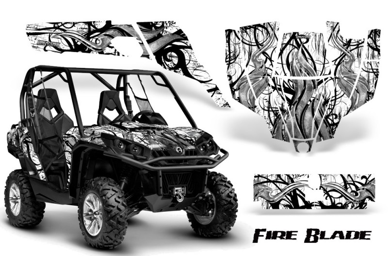Can-Am-Commander-CreatorX-Graphics-Kit-Fire-Blade-Black-White-BB