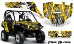 Can Am Commander CreatorX Graphics Kit Fire Blade Black Yellow YB 150x90 - Can-Am BRP Commander 800-1000 Graphics