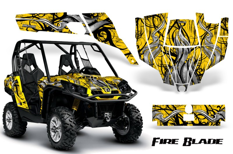 Can-Am-Commander-CreatorX-Graphics-Kit-Fire-Blade-Black-Yellow-YB