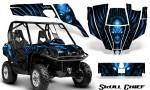 Can Am Commander CreatorX Graphics Kit Skull Chief Blue 150x90 - Can-Am BRP Commander 800-1000 Graphics