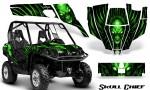 Can Am Commander CreatorX Graphics Kit Skull Chief Green 150x90 - Can-Am BRP Commander 800-1000 Graphics