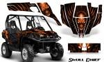 Can Am Commander CreatorX Graphics Kit Skull Chief Orange 150x90 - Can-Am BRP Commander 800-1000 Graphics