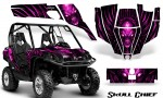 Can Am Commander CreatorX Graphics Kit Skull Chief Pink 150x90 - Can-Am BRP Commander 800-1000 Graphics