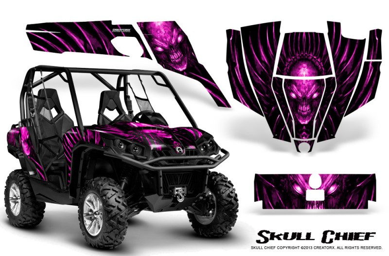 Can-Am-Commander-CreatorX-Graphics-Kit-Skull-Chief-Pink