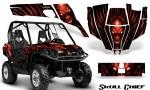 Can Am Commander CreatorX Graphics Kit Skull Chief Red 150x90 - Can-Am BRP Commander 800-1000 Graphics