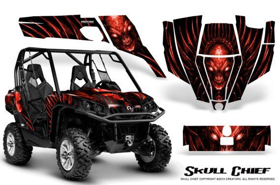 Can Am Commander CreatorX Graphics Kit Skull Chief Red 570x376 - Can-Am BRP Commander 800-1000 Graphics