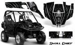 Can Am Commander CreatorX Graphics Kit Skull Chief Silver 150x90 - Can-Am BRP Commander 800-1000 Graphics