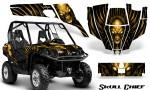 Can Am Commander CreatorX Graphics Kit Skull Chief Yellow 150x90 - Can-Am BRP Commander 800-1000 Graphics