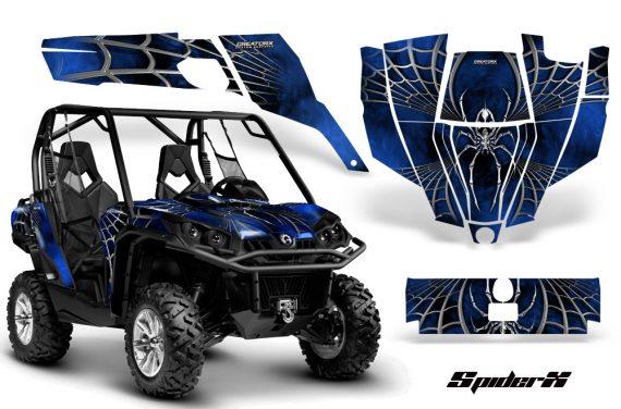 Can Am Commander CreatorX Graphics Kit SpiderX Blue 570x376 - Can-Am BRP Commander 800-1000 Graphics