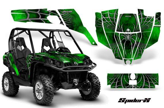 Can Am Commander CreatorX Graphics Kit SpiderX Green 570x376 - Can-Am BRP Commander 800-1000 Graphics