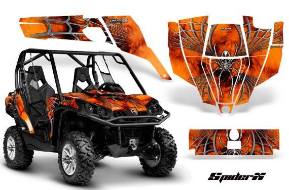 Can Am Commander CreatorX Graphics Kit SpiderX Orange 570x376 - Can-Am BRP Commander 800-1000 Graphics