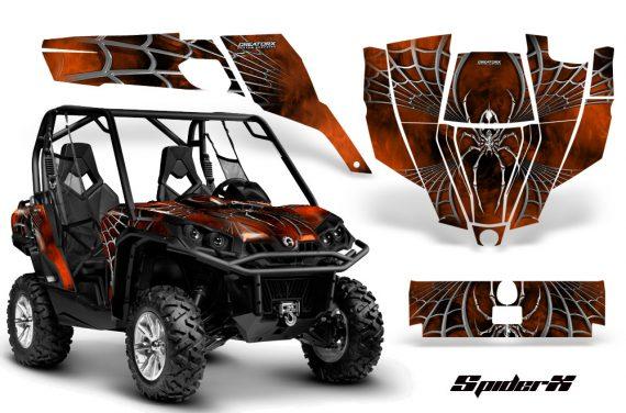 Can Am Commander CreatorX Graphics Kit SpiderX Orange Dark 570x376 - Can-Am BRP Commander 800-1000 Graphics
