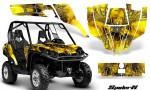 Can Am Commander CreatorX Graphics Kit SpiderX Yellow 150x90 - Can-Am BRP Commander 800-1000 Graphics