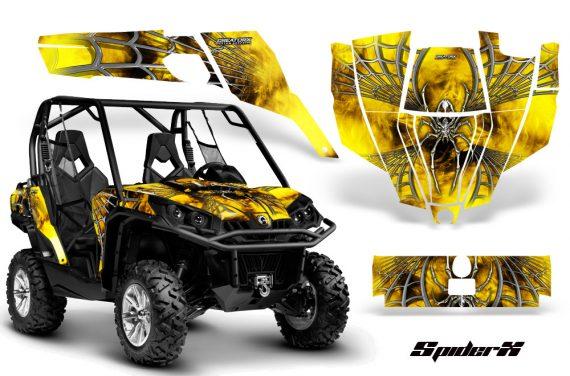 Can Am Commander CreatorX Graphics Kit SpiderX Yellow 570x376 - Can-Am BRP Commander 800-1000 Graphics