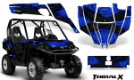 Can Am Commander CreatorX Graphics Kit TribalX Black Blue 150x90 - Can-Am BRP Commander 800-1000 Graphics