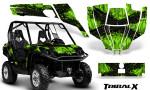 Can Am Commander CreatorX Graphics Kit TribalX Black Green 150x90 - Can-Am BRP Commander 800-1000 Graphics