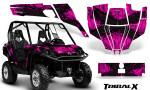 Can Am Commander CreatorX Graphics Kit TribalX Black Pink 150x90 - Can-Am BRP Commander 800-1000 Graphics
