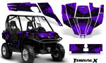 Can Am Commander CreatorX Graphics Kit TribalX Black Purple 150x90 - Can-Am BRP Commander 800-1000 Graphics