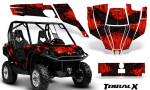 Can Am Commander CreatorX Graphics Kit TribalX Black Red 150x90 - Can-Am BRP Commander 800-1000 Graphics