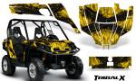 Can Am Commander CreatorX Graphics Kit TribalX Black Yellow 150x90 - Can-Am BRP Commander 800-1000 Graphics