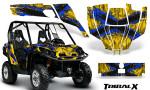 Can Am Commander CreatorX Graphics Kit TribalX Blue Yellow 150x90 - Can-Am BRP Commander 800-1000 Graphics