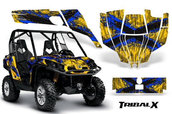 Can-Am-Commander-CreatorX-Graphics-Kit-TribalX-Blue-Yellow