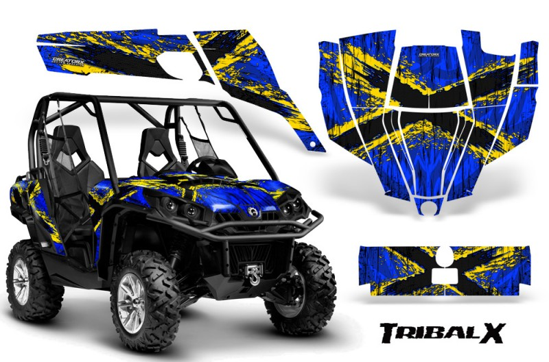Can-Am-Commander-CreatorX-Graphics-Kit-TribalX-Blue-Yellow-BB