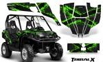 Can Am Commander CreatorX Graphics Kit TribalX Green Black BB 150x90 - Can-Am BRP Commander 800-1000 Graphics