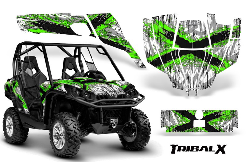 Can-Am-Commander-CreatorX-Graphics-Kit-TribalX-Green-White-BB