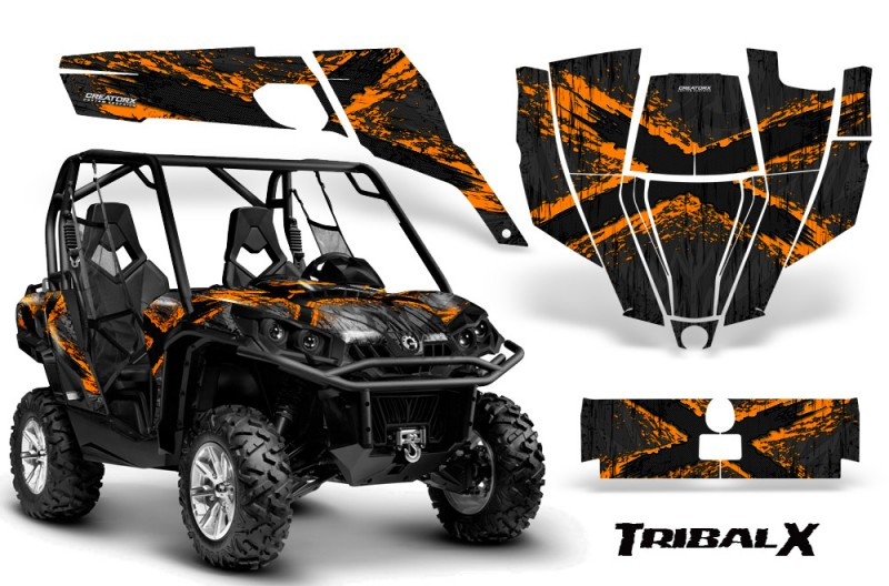 Can-Am-Commander-CreatorX-Graphics-Kit-TribalX-Orange-Black-BB