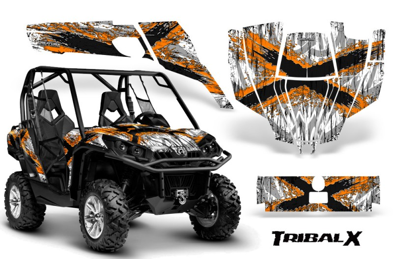 Can-Am-Commander-CreatorX-Graphics-Kit-TribalX-Orange-White-BB
