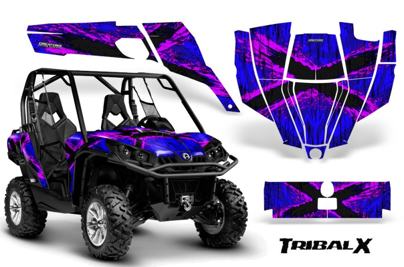 Can-Am-Commander-CreatorX-Graphics-Kit-TribalX-Pink-Blue-BB