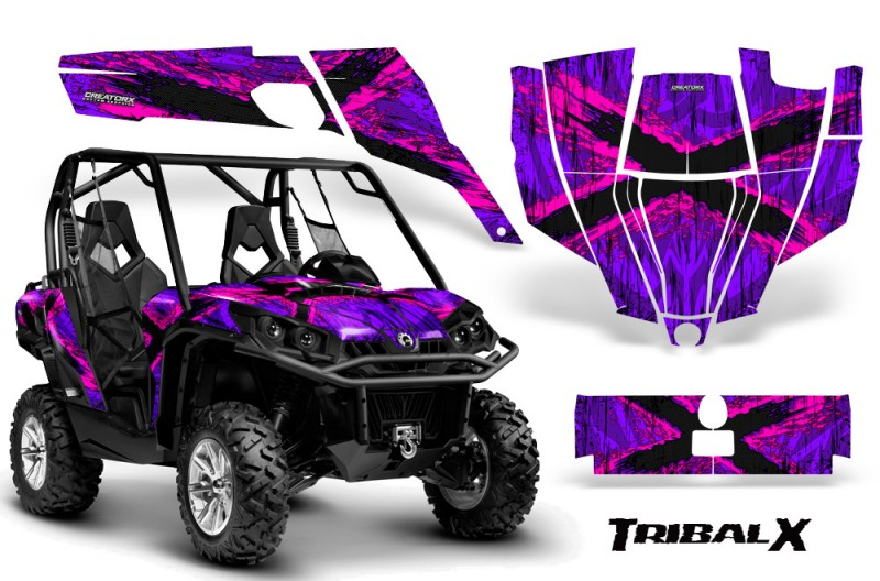 Can-Am-Commander-CreatorX-Graphics-Kit-TribalX-Pink-Purple-BB