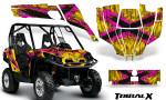 Can Am Commander CreatorX Graphics Kit TribalX Pink Yellow 150x90 - Can-Am BRP Commander 800-1000 Graphics