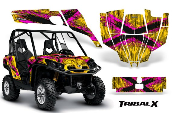 Can-Am-Commander-CreatorX-Graphics-Kit-TribalX-Pink-Yellow