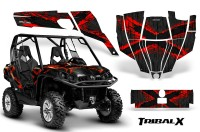 Can-Am-Commander-CreatorX-Graphics-Kit-TribalX-Red-Black-BB