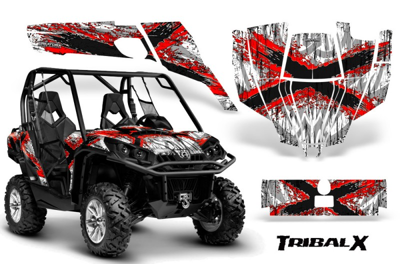 Can-Am-Commander-CreatorX-Graphics-Kit-TribalX-Red-White-BB
