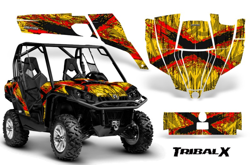 Can-Am-Commander-CreatorX-Graphics-Kit-TribalX-Red-Yellow-BB