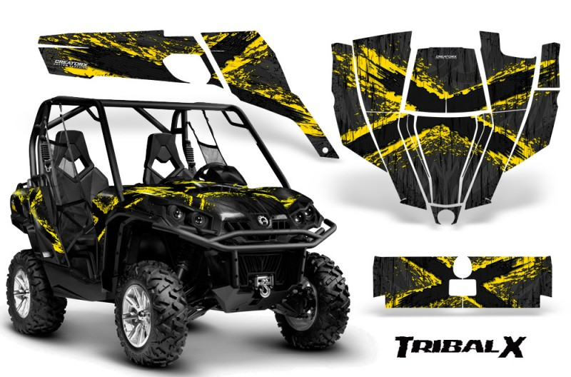 Can-Am-Commander-CreatorX-Graphics-Kit-TribalX-Yellow-Black-BB