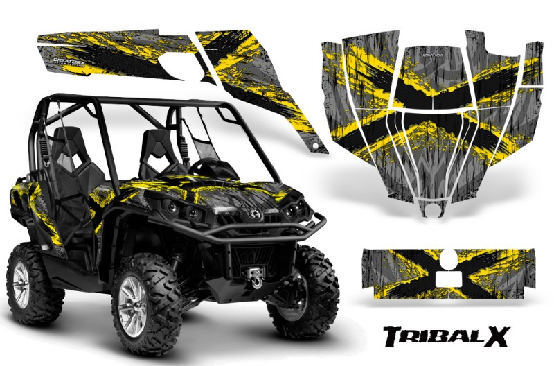 Can-Am-Commander-CreatorX-Graphics-Kit-TribalX-Yellow-Silver-BB