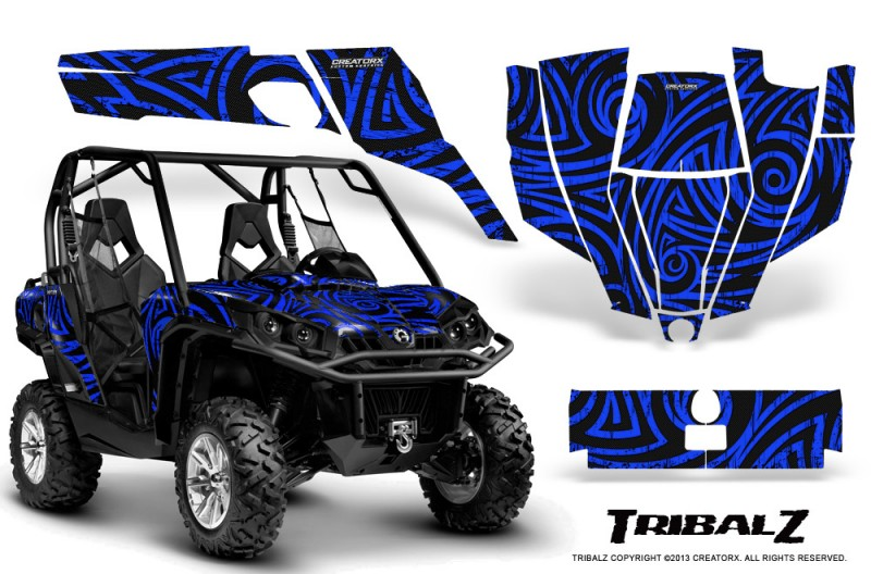 Can-Am-Commander-CreatorX-Graphics-Kit-TribalZ-Blue