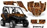 Can Am Commander CreatorX Graphics Kit TribalZ Orange 150x90 - Can-Am BRP Commander 800-1000 Graphics