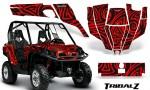 Can Am Commander CreatorX Graphics Kit TribalZ Red 150x90 - Can-Am BRP Commander 800-1000 Graphics